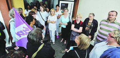 Une vingtaine d'infirmières en AG hier après-midi