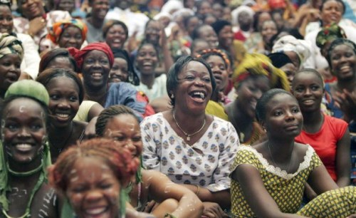Ky Chung. Des femmes africaines célébrant la journée du 8 Mars.
