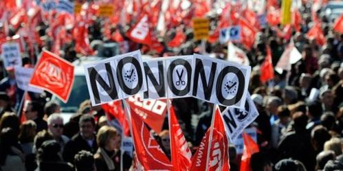 Manifestation contre la reforme du travail, Madrid, 19 février 2012