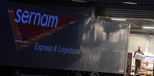 Vue de la plateforme Sernam de Sainghin-en-Melantois, dans le Nord.