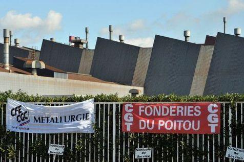 Vue prise du site de la Fonderie du Poitou Aluminium (FDPA) le 20 octobre 2011 à Ingrandes. (Photo Pierre Andrieu. AFP)