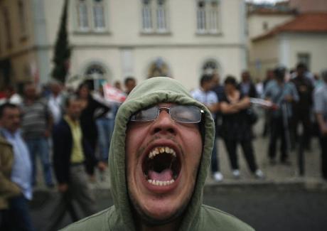Une des nombreuses manifestations au Portugal ces dernières semaines.