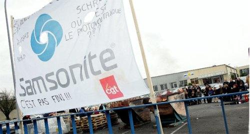 Janvier 2007 : Grève sur le site Energy Plast (ex Samsonite) à Henin-Beaumont, pres de Lens.