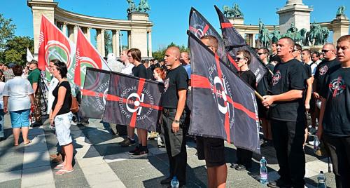 La scène se déroule dans la petite ville hongroise de Devecser. Au cour du mois d'août dernier, une manifestation d'ampleur contre les Gitans a été organisé par l'extrême droite hongroise. Près de 1000 personnes se sont réunies à l'appel du Jobbik et de milices civiles telles que la nouvelle garde hongroise  en noir et rouge, la garde nationale  en vert et l'ordre de la nouvelle aube en noir et argent.