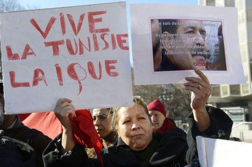 Manifestation à Marseille, le 9 février 2013, en mémoire du Tunisien Chokri Belaïd