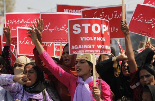 Manifestation à Lahore