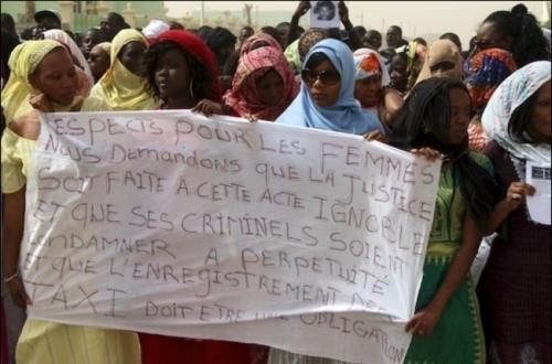 [Bakari Guèye] Les Mauritaniennes ont manifesté le 3 avril pour demander justice pour Penda Sogué, victime d'un assassinat.