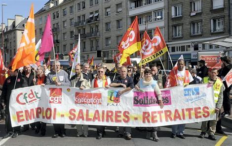 5 000 manifestants ont répondu à l'appel des syndicats en 2012.