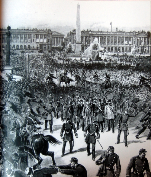 Gravure : 1er mai 1890 à Paris