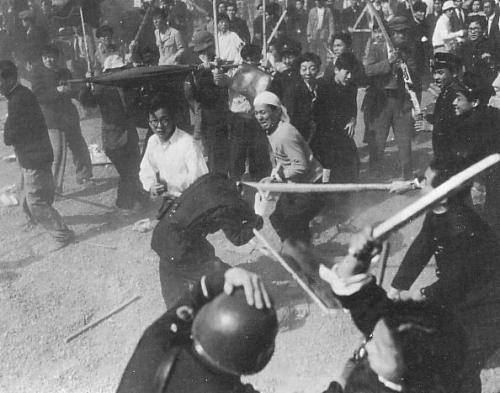 1 mai 1952 : Affrontements entre manifestants et forces de répression à Tokyo