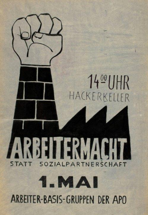 Affiche pour le 1 Mai 1969 à Munich :