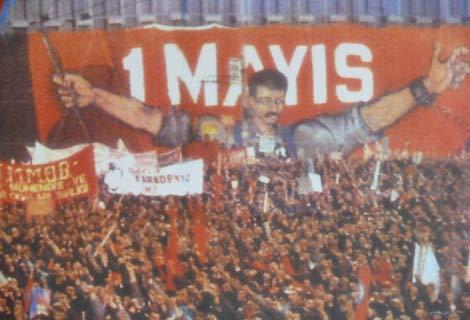 Manifestation du 1 mai 1977 à Istanbul