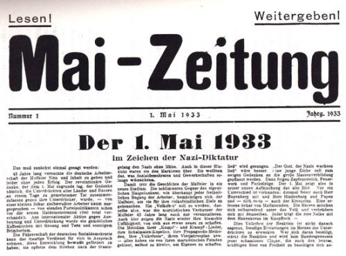 Journal anarcho-syndicaliste clandestin distribué à Dresde à l'occasion du 1er mai 1933