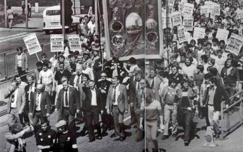 strike demo met scargill