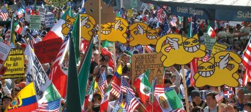Manifestation du 1 mai 2006 à New York