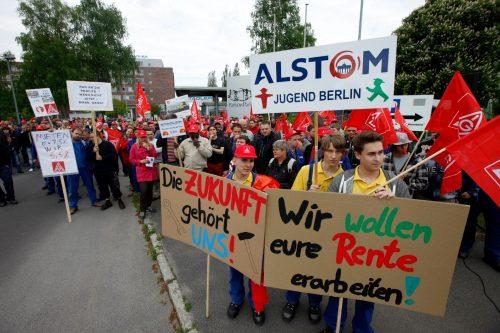 Travailleurs d'Alstom à Berlin