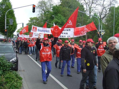 Manifestation à Mönchengladbach