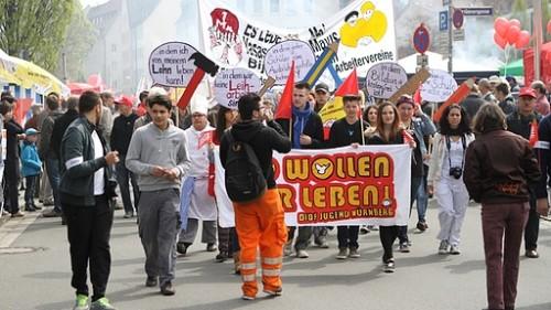 Manifestation du 1er Mai à Nuremberg