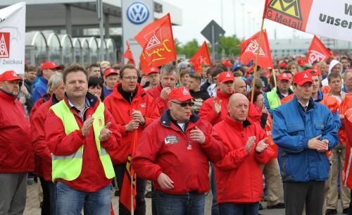 Débrayage à l'usine Volswagen de Zwickau