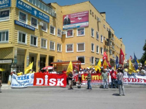 Manifestation syndicale à Erdine, 17 juin