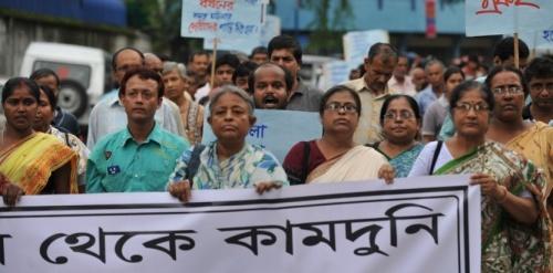 Manifestation contre les viols en Inde (DIPTENDU DUTTA - AFP)