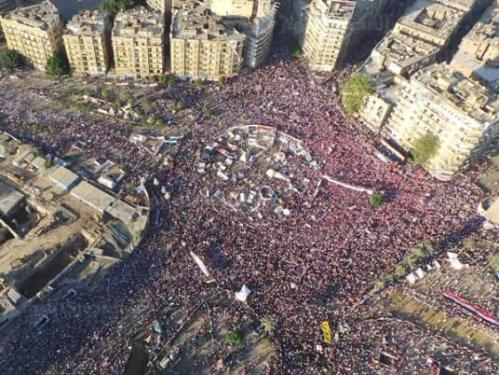 Photo des anti-Morsi place Tahrir à 18 H 30