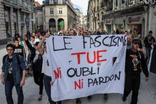Le 14 juin, lors d'une manifestation à la mémoire de Clément Méric, militant d'extrême gauche tué à Paris lors d'une rixe avec des membres de l'extrême droite. Photo Emmanuel Hasle