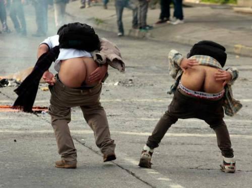 Face aux forces de répression