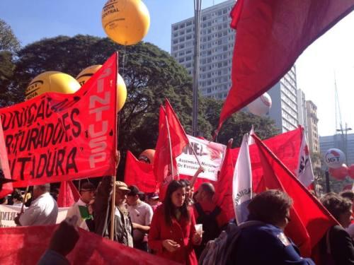 Manifestation à Sao Paulo