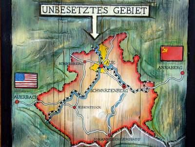 "Carte de la ""zone non-occupée"" autour de Schwarzerberg"
