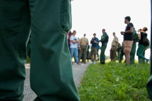 Premiers contrôles policiers, 23 août, entre Auerbach et Sulzbach-Rosenberg