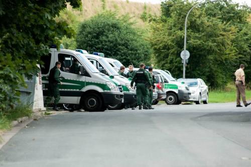 Contrôle policier à la sortie de Bayreuth, 20 août