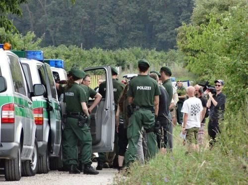Contrôle et arrestations entre Neustadt/Aisch et Cadolzburg