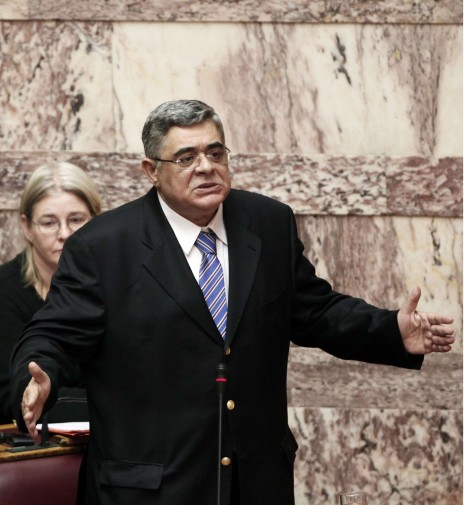 Nikos Michaloliakos, leader du parti néonazi