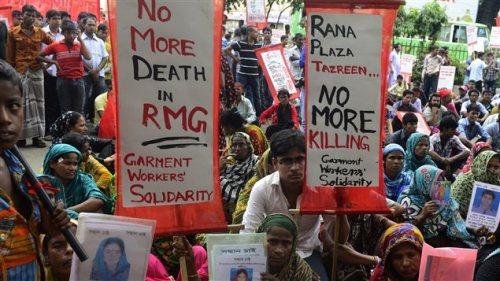 Manifestation plus tôt ce mois-ci à Dacca, au Bangladesh