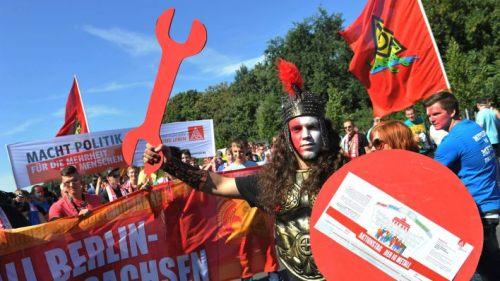 Manifestation des métallos à Berlin, 7 septembre