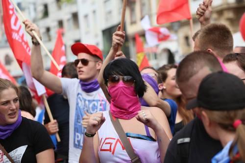 Manifestation à Francfort le 7 septembre