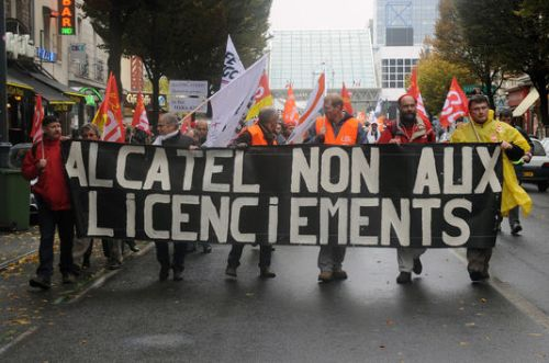 Les sites Alcatel-Lucent en France, en 2013.