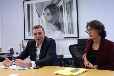 Eric Courteille et Nathalie Balla, les deux repreneurs associes de La Redoute  © Hubert Van Maele - MaxPPP