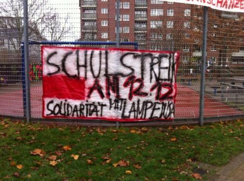 Appel à la grève le 12 décembre sur un lycée à Hambourg