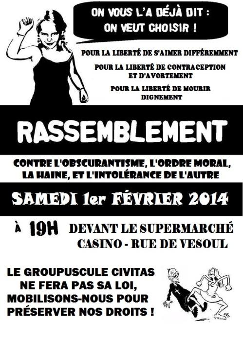 3 - Affiche une - rassemblement Civitas 2014