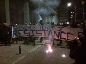 Manif anti FN à grenoble le 10/01/2014