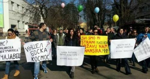 Manifeistation à Banja Luka (Republika Srbska) le 7 février