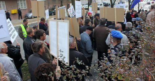 Manifestation des travailleurs de Bira Bihac