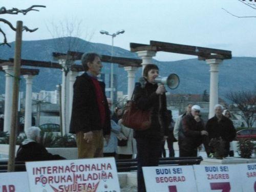 Manifestation à Mostar le 26 février