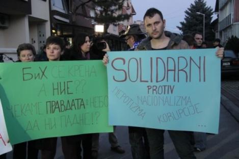 Rassemblement à Skopje, 13 février