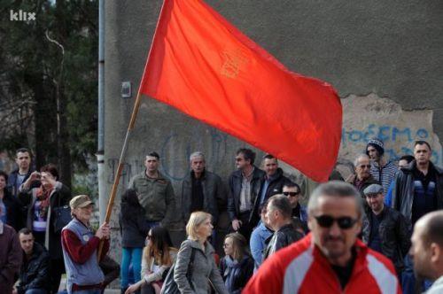 Manifestation ouvrière à Tuzla, 11 février