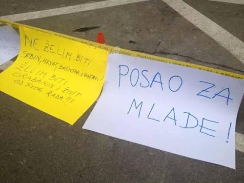 """Tuzla, 9 février : """"Des emplois pour les jeunes"""""""
