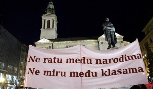 """Zagreb : """"Pas de guerre entre les peuples, pas de paix entre les classes"""""""