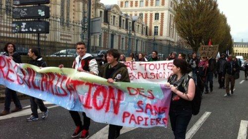 © S.Salliou Manifestation de soutien à un étudiant sans papiers à Rennes